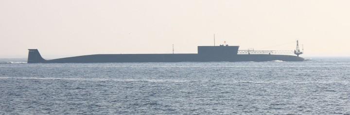K-535_Yuri_Dolgorukiy_at_sea_trials